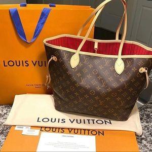 Louis Vuitton monogram neverfull MM cherry